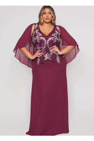 Pianeta Vestido Almaria Plus Size Longo Capa