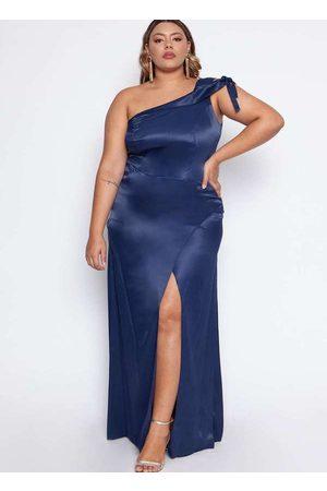 Pianeta Mulher Vestido de Festa - Vestido Almaria Plus Size Acetinado