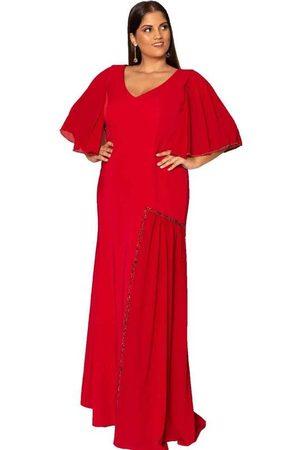 Pianeta Vestido Almaria Plus Size Bordado