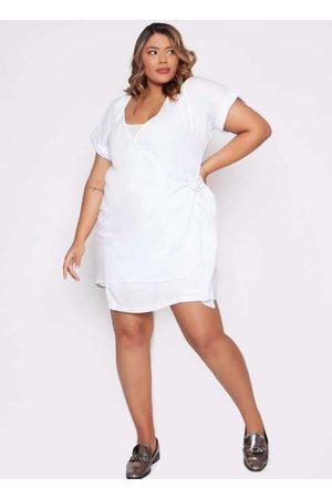 Izzat Mulher Vestido Médio - Vestido Almaria Plus Size Midi
