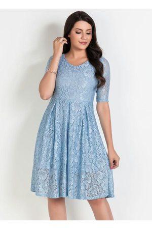 ROSALIE Mulher Vestido Médio - Vestido em Renda Moda Evangélica