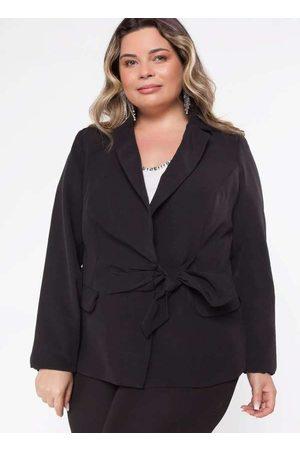 Pianeta Mulher Blazer - Blazer Almaria Plus Size Amarração