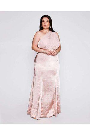 Pianeta Mulher Vestido de Festa - Vestido Almaria Plus Size Longo Cetim