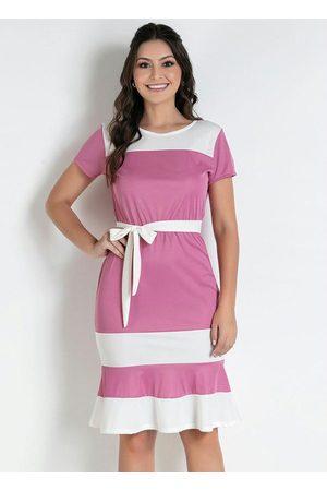 ROSALIE Mulher Vestido Médio - Vestido e Off White Moda Evangélica