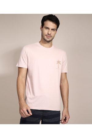 Suncoast Camiseta Coqueiros Manga Curta Gola Careca