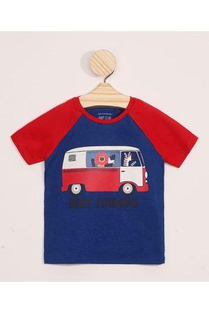BABY CLUB Camiseta Infantil Raglan Bichinhos Manga Curta