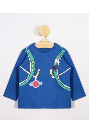 BABY CLUB Menino Camisolas de Manga Larga - Camiseta Infantil Mochila de Voo Manga Longa Gola Careca