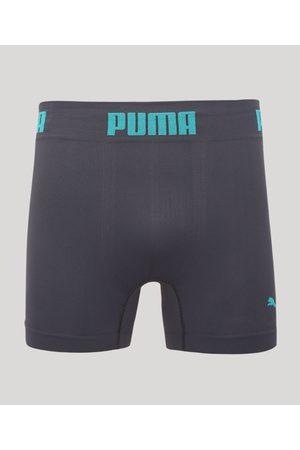 PUMA Homem Cueca Boxer - Cueca Boxer Microfibra Boxer Chumbo