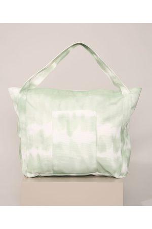 C&A Mulher Mochila - Bolsa Feminina Estampada Tie Dye Shopper Verde