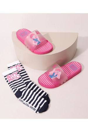 GRENDENE Chinelo Infantil Slide Any Malu + Meia