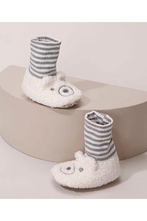 BABY CLUB Menina Pantufas - Pantufa Infantil de Ursinho Bege