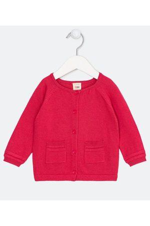 Teddy Boom (0 a 18 meses) Cardigan Infantil em Tricô com Bolsos Frontais - Tam 0 a 18 meses | | | 3-6M