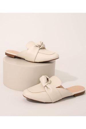 Via Uno Mulher Sapato Mule - Mule Feminino com Nó