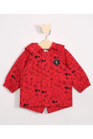 BABY CLUB Menino Jaquetas - Jaqueta Infantil Corta Vento Estampada Bichinhos Vermelho