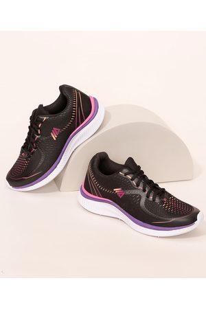 ACE Mulher Sapatos Esporte - Tênis Feminino Esportivo Texturizado com Estampa Degradê