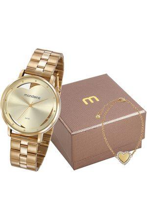 Mondaine Kit de Relógio Feminino Analógico + Pulseira - 53748LPMKDE1K1