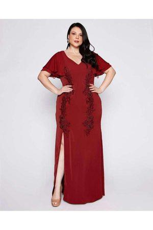 Pianeta Vestido Almaria Plus Size Longo Crepe