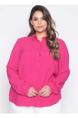 Pianeta Mulher Camisa Manga Curta - Camisa Almaria Plus Size Viscose Maquineta