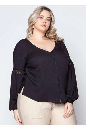 Pianeta Camisa Almaria Plus Size Renda