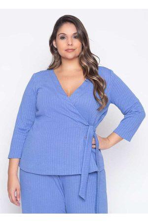 Pianeta Mulher Blusa - Blusa Almaria Plus Size Cachecoeur Canelad