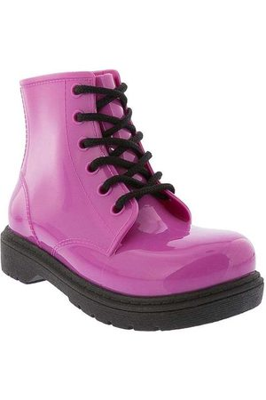 LUELUA Menina Botas - Bota Coturno Pink
