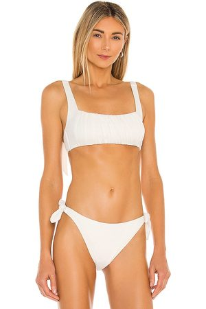 Minkpink Constance Ruched Crop Bikini Top in . - size L (also in M, S, XS)