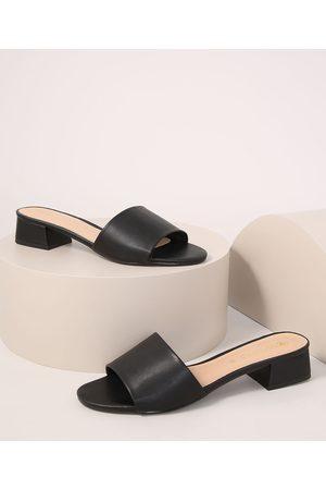 Via Uno Mulher Sapato Mule - Tamanco Feminino Salto Médio