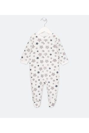 Teddy Boom (0 a 18 meses) Criança Macacão - Macacão Infantil Longo em Plush Estampa de Estrelas - Tam RN a 18 meses | | | 0-3M