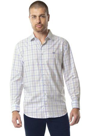 Hangar 33 Homem Camisa Casual - Camisa Xadrez Algodão Egípcio