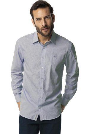 Hangar 33 Homem Camisa Casual - Camisa Manga Longa Comfort