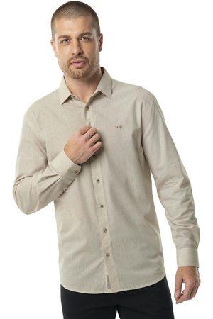 Hangar 33 Homem Camisa Casual - Camisa Manga Longa Comfort Off White