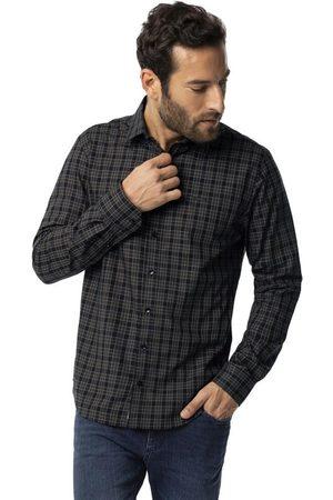 Hangar 33 Homem Camisa Casual - Camisa Manga Longa Xadrez Slim