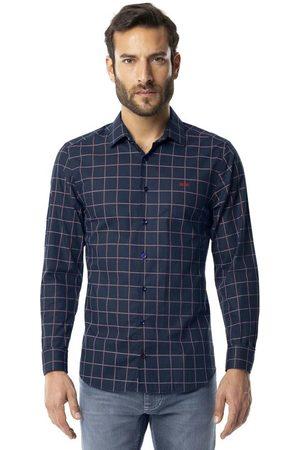 Hangar 33 Homem Camisa Casual - Camisa Xadrez Super Slim