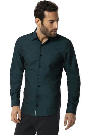Hangar 33 Homem Camisa Casual - Camisa Algodão Egípcio Super Slim