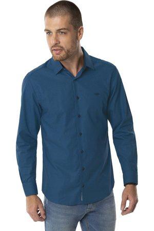 Hangar 33 Homem Camisa Casual - Camisa Slim Fit Algodão Egípcio Pai