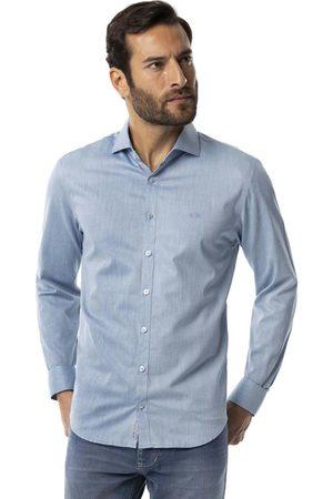 Hangar 33 Homem Camisa Casual - Camisa Tecido Tricoline Texturizado