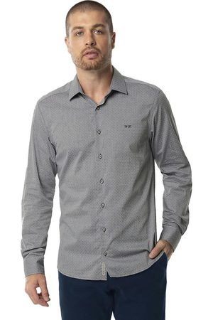 Hangar 33 Homem Camisa Casual - Camisa Tecido Plano Tricoline