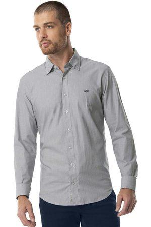 Hangar 33 Homem Camisa Casual - Camisa Tecido Tricoline Mescla