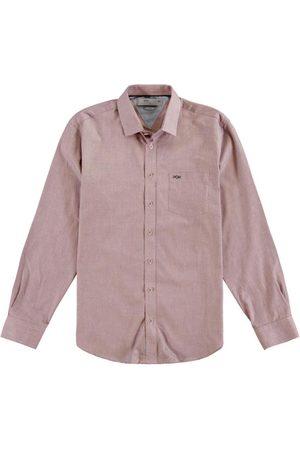 Hangar 33 Homem Camisa Casual - Camisa Manga Longa Tricoline Bordo