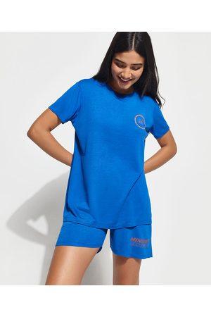 """Mindse7 Mulher Camiseta - T-Shirt Change Your Mindset"""" Manga Curta Decote Careca Mindset Royal"""""""