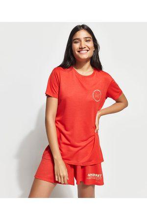 """Mindse7 T-Shirt Change Your Mindset"""" Manga Curta Decote Careca Mindset Vermelha"""""""