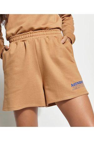 Mindse7 Mulher Short - Short de Moletom com Bolsos Mindset Caramelo