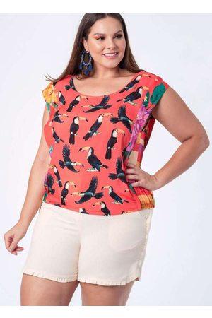Munny Mulher Blusas tipo Regata - Regata Almaria Plus Size Trimix