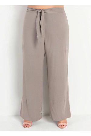 Marguerite Calça Pantalona com Faixa Plus Size
