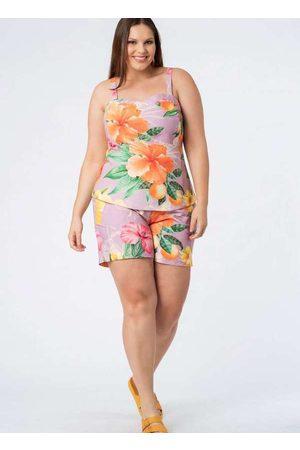 Munny Mulher Blusas tipo Regata - Regata Almaria Plus Size Estampada