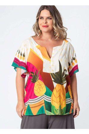 Munny Mulher Bata & Túnica - Bata Almaria Plus Size Estampada Abacachic B