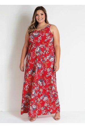 Marguerite Mulher Vestido Estampado - Vestido Longo Floral de Alças Plus Size