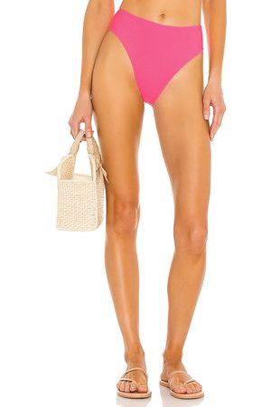Frankies Bikinis Jenna Ribbed Bikini Bottom in Pink. - size L (also in M, S, XS)