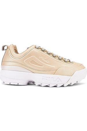Fila Disruptor Zero Pearl Sneaker in Metallic Gold. - size 10 (also in 6, 6.5, 7, 7.5, 8, 8.5, 9, 9.5)