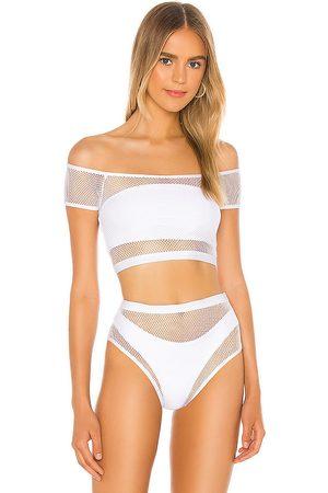 superdown Lorna Mesh Bikini Top in . - size L (also in M, S, XL, XS, XXS)